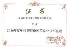 中国智能电网信息化领军企业